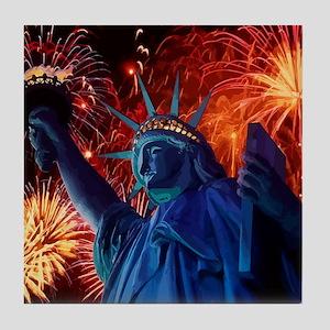 Lady_Liberty_Poster Tile Coaster