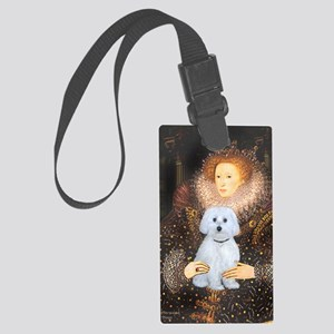 Magnet-Queen - Maltese (B) Large Luggage Tag