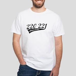 220 221 White T-Shirt