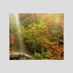Autumn Waterfall Throw Blanket