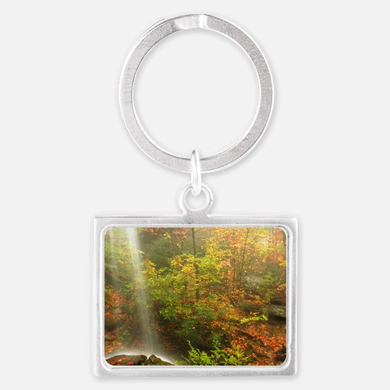 Autumn Waterfall Landscape Keychain