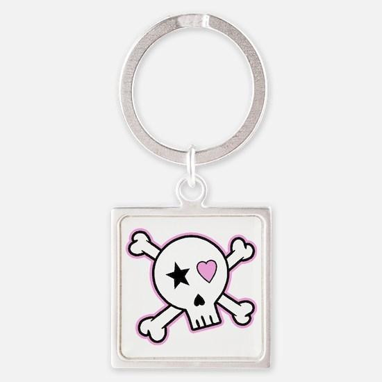 skullpng1 Square Keychain