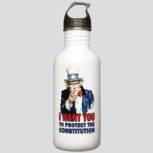 11x17_unclesam-2 Stainless Water Bottle 1.0L
