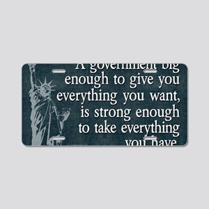 11x17_DarkFlagBigGovt Aluminum License Plate