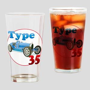 Bugatti35-C8trans Drinking Glass