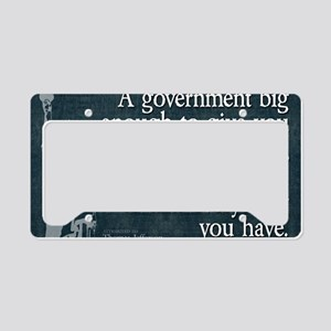 11x17_DarkFlagBigGovt License Plate Holder