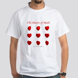 Hearts Surface/Curves White T-Shirt