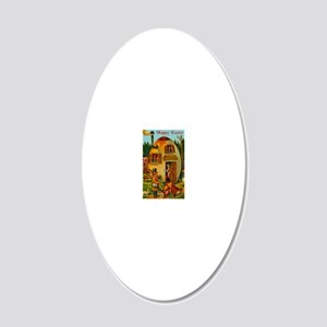 easter-egg-house 20x12 Oval Wall Decal