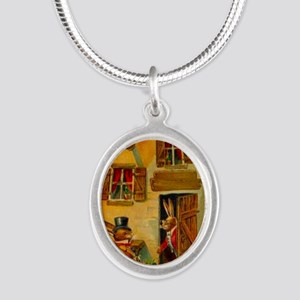 easter-egg-house Silver Oval Necklace