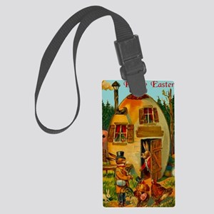 easter-egg-house Large Luggage Tag