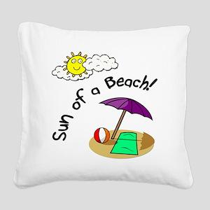 sunofabeach Square Canvas Pillow