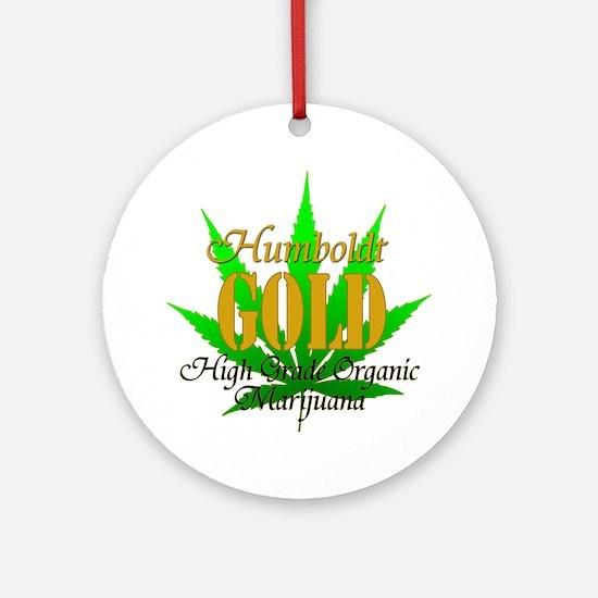 humboldt-gold-big Round Ornament