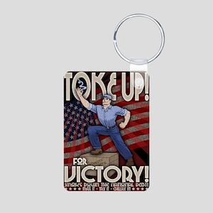2 Toke Up LG Aluminum Photo Keychain
