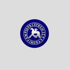 Sleipnir button on blue Mini Button