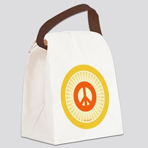 btn-orange-peace Canvas Lunch Bag