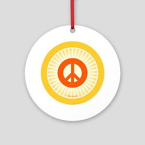 btn-orange-peace Round Ornament