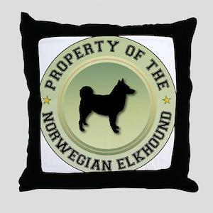 Elkhound Property Throw Pillow