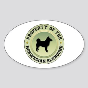 Elkhound Property Oval Sticker