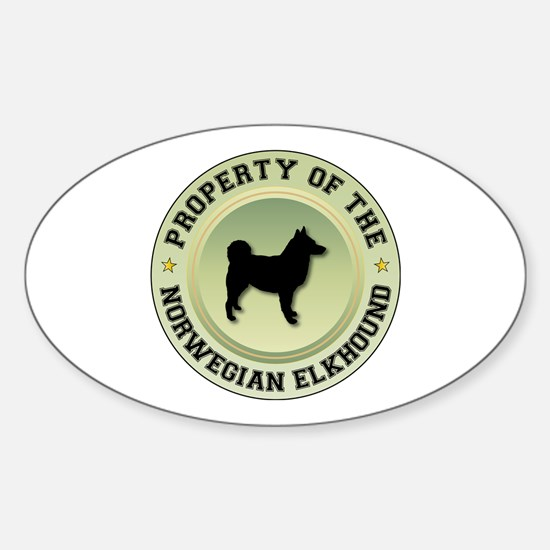 Elkhound Property Oval Decal
