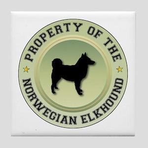 Elkhound Property Tile Coaster