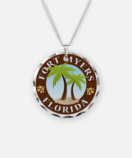 Palm-trees-Fort-Myers-Beach Necklace