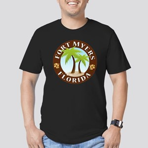 Palm-trees-Fort-Myers- Men's Fitted T-Shirt (dark)