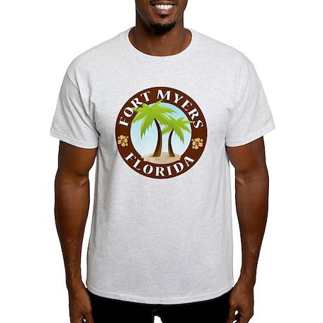 Palm-trees-Fort-Myers-Beach Light T-Shirt