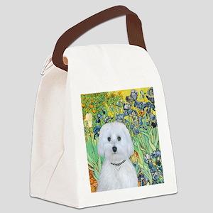 Irises - Maltese (B) - square Canvas Lunch Bag