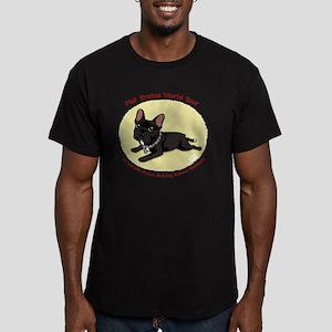 transparentwithredtext Men's Fitted T-Shirt (dark)