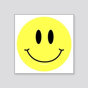 "btn-symbol-smiley Square Sticker 3"" x 3"""