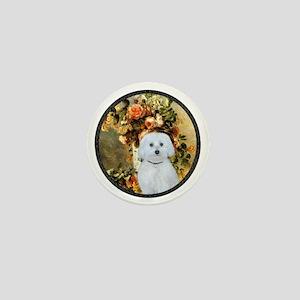 Vase - Maltese (B) - round Mini Button