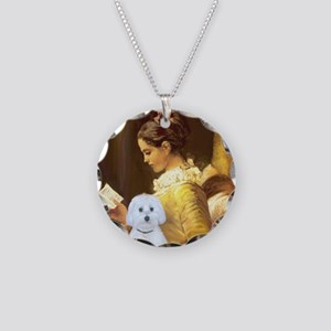 Reading - Maltese (B) - squa Necklace Circle Charm