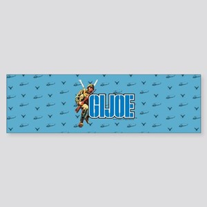 G.I. Joe Blue Pattern Bumper Sticker