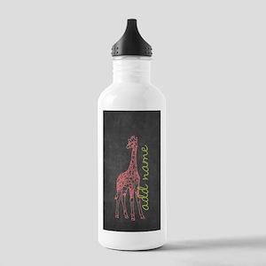 Chalkboard Giraffe Water Bottle