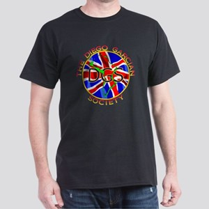 DGS-Roundell-UnionJack-Words-trans-v2 Dark T-Shirt