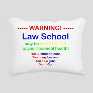 Hazardous for black Rectangular Canvas Pillow