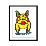Funky Frenchie Framed Panel Print