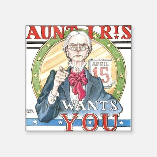 "Aunt IRiS Final 300 Square Sticker 3"" x 3"""