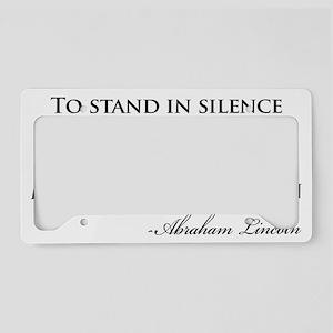 Lincoln-cowards-of-men-(white License Plate Holder