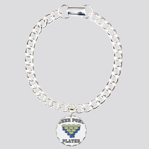 Beer Pong Player Charm Bracelet, One Charm