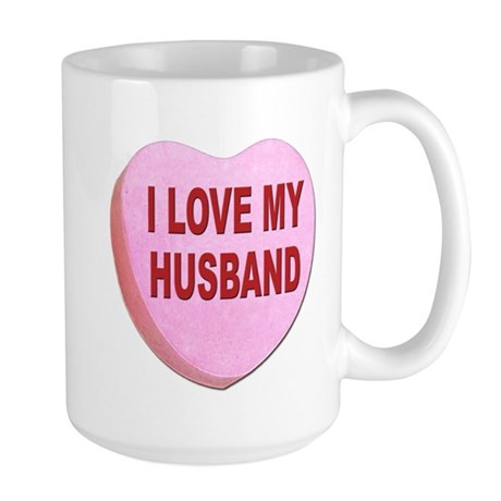 I Love My Husband Valentine Large Mug