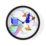 Dissonant Duck Wall Clock