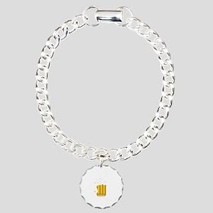 Drink Naked White Charm Bracelet, One Charm