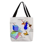 Dissonant Duck Polyester Tote Bag