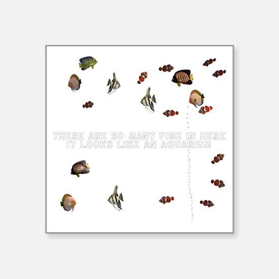 "T0030B-Aquarium-2000x2000 Square Sticker 3"" x 3"""