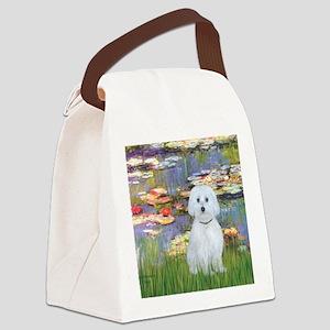 MP-Lilies 2 - Maltese (B) Canvas Lunch Bag