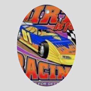 DirtRacing Oval Ornament