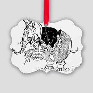 elephantwithbasket Picture Ornament