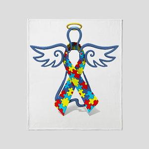 Autism Angel 10x10 Throw Blanket