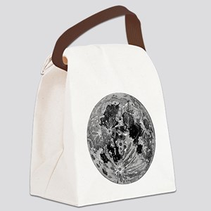 19th century moon engraving Canvas Lunch Bag